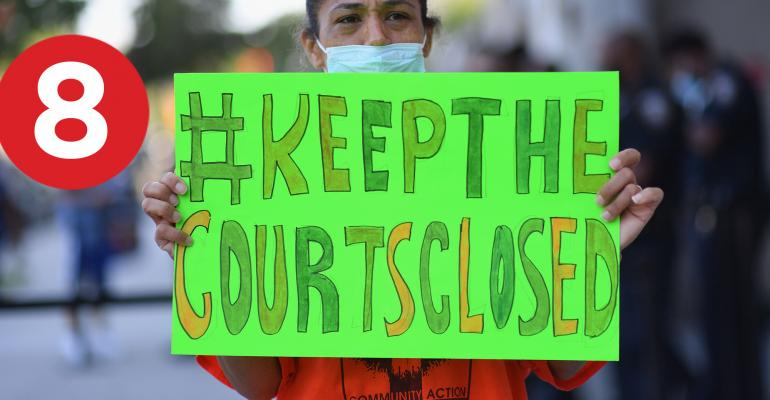 court evictions banner