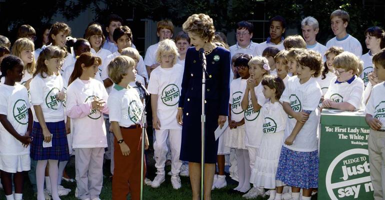 Nancy Reagan Just Say No to drugs