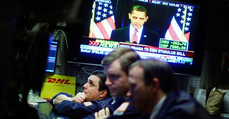 Barack Obama stock market
