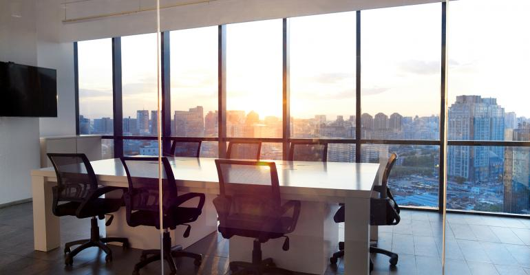 office building window