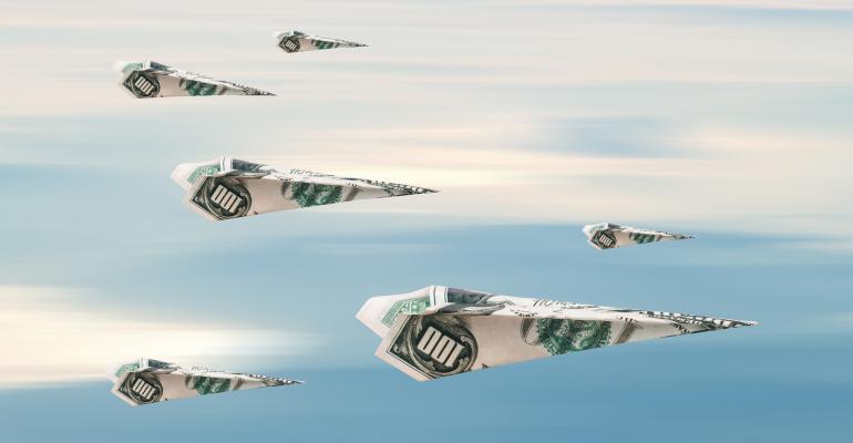 paper airplanes money