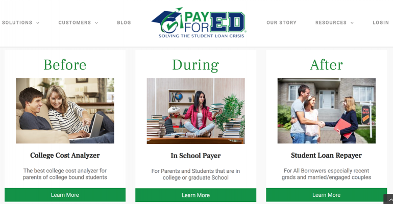 Pay for Ed website