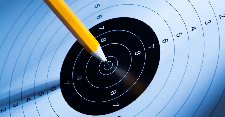 pencil target