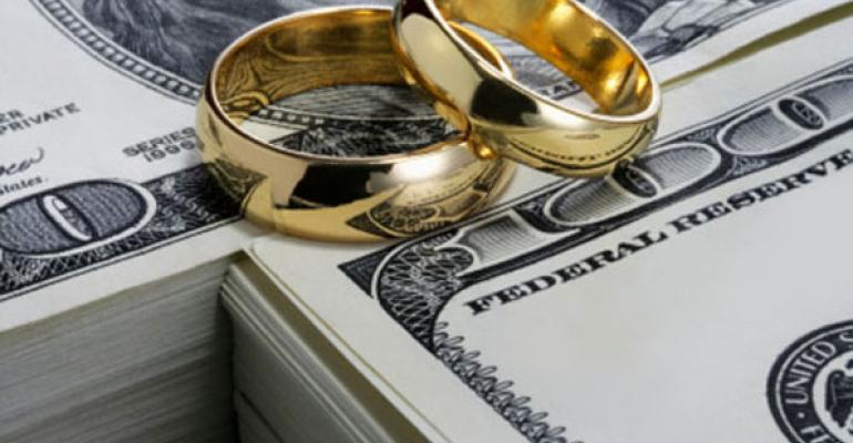 money wedding rings