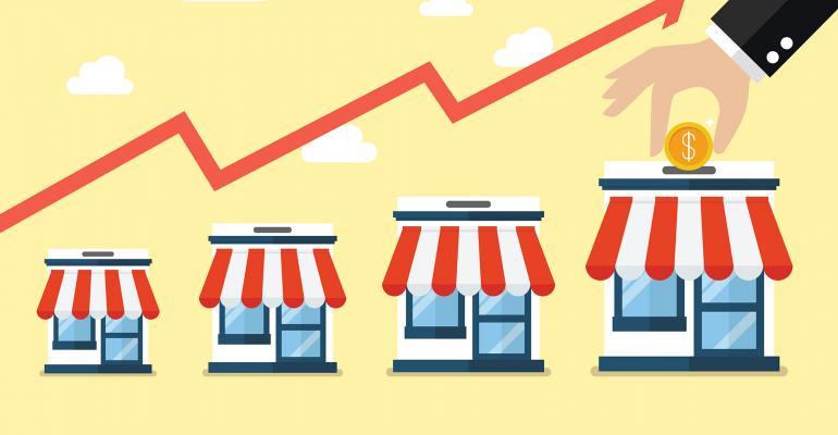 money into stores
