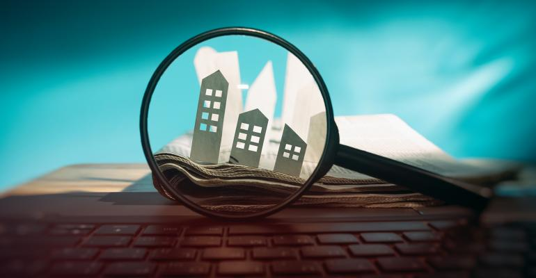 magnifying glass real estate