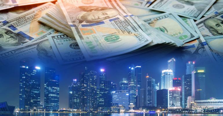 city skyline money