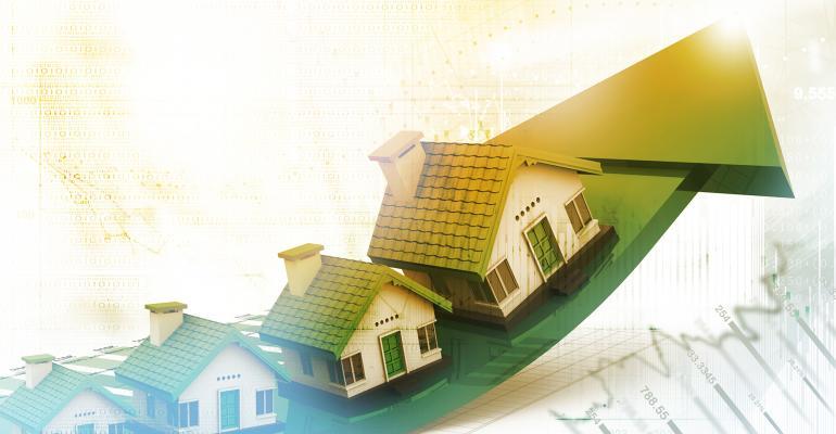 housing growth arrow