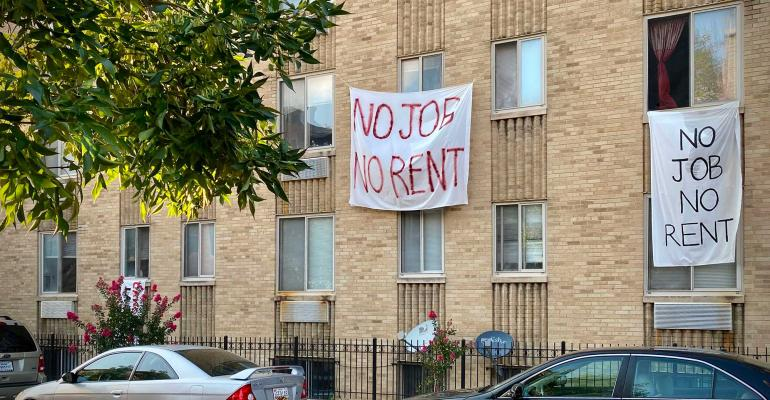 apartment building banners