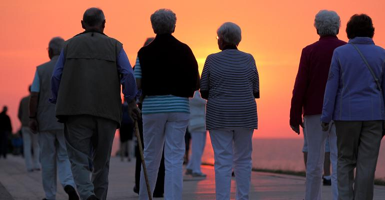 retirees sunset
