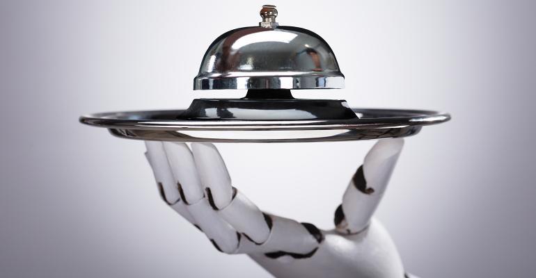 robot bell concierge