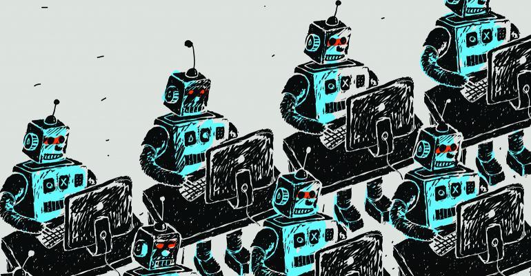 robots desks