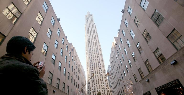 Rockefeller Center in New York.