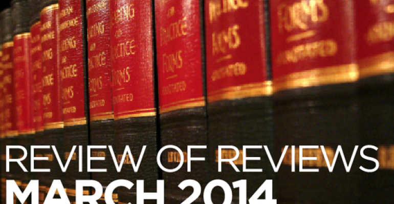 """Review of Reviews: """"In Denial: The Role of Law in Preparing for Death,"""" 21 Elder L. J. 1 (2013)"""