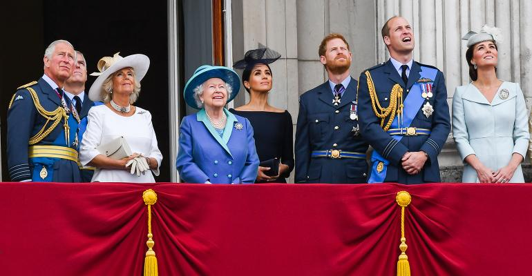 the royal family in 2018