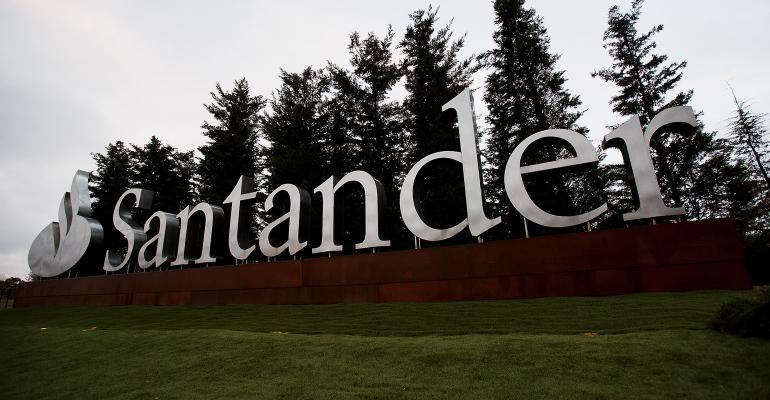 Santander Bank sign