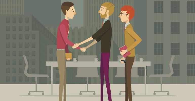 shaking hands illustration