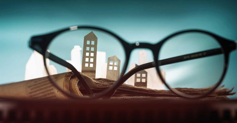 apartment buildings eyeglasses