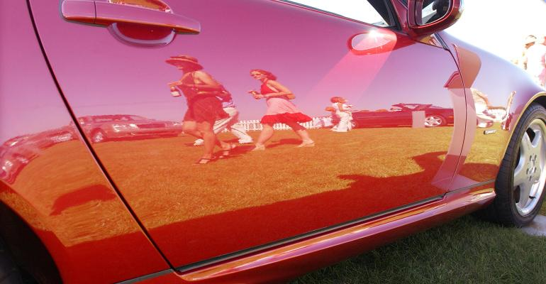 sports car reflection party