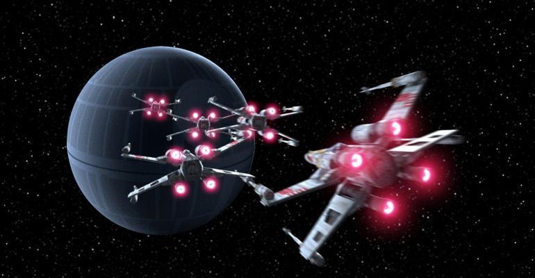 Star Wars trench run scene