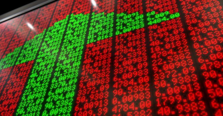 stock market green arrow