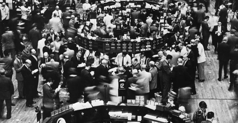 stock market floor in 1960s
