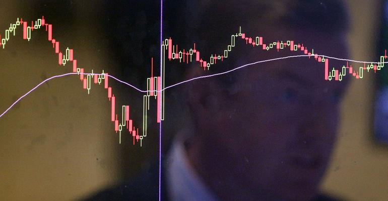 stock market screen slide