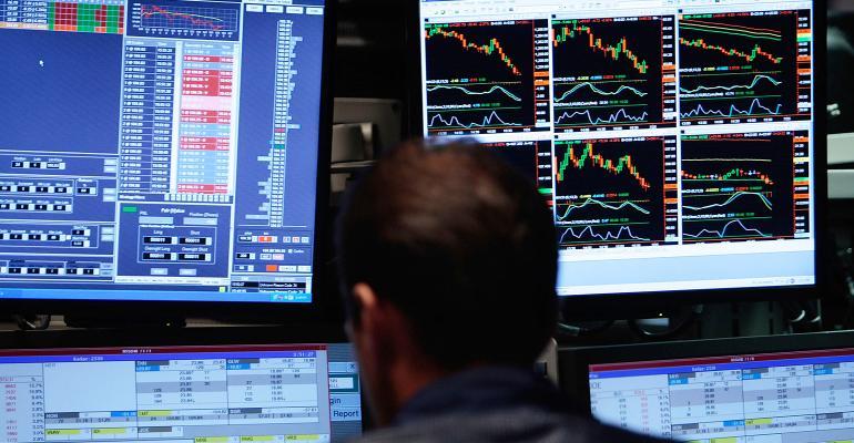 stock market screens prices