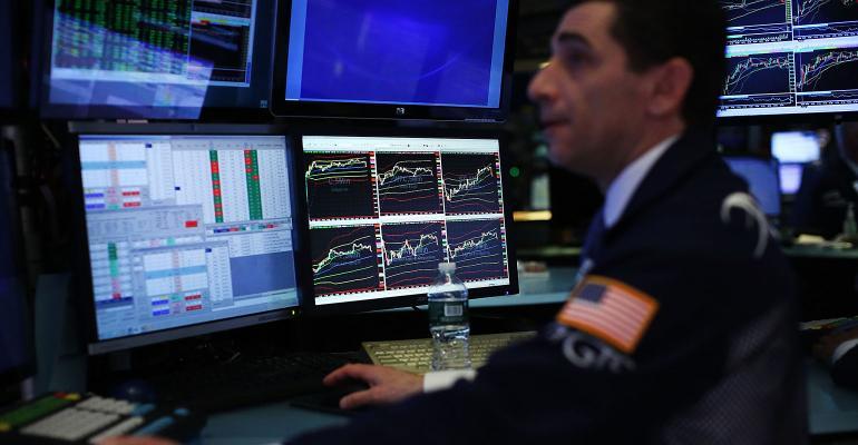 stock market trader screens