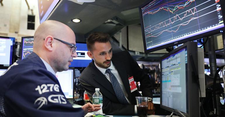 NYSE stock market traders