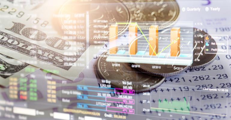 Stock market trading data money