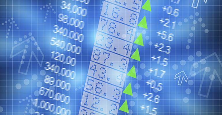 stock prices green arrows