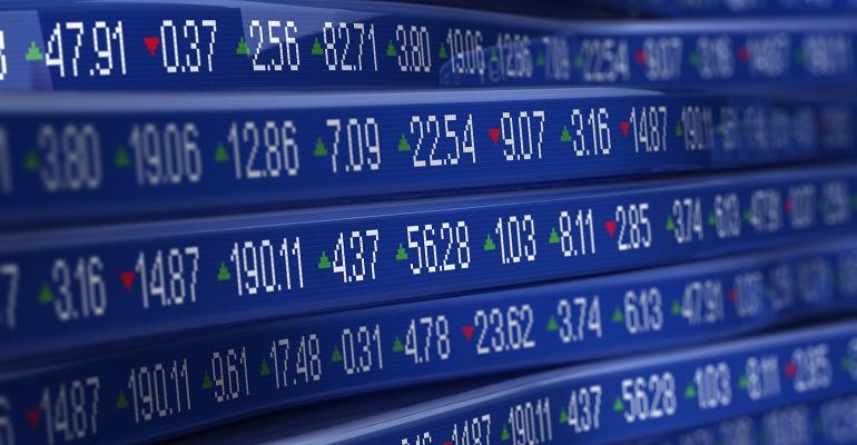 stock ticker prices