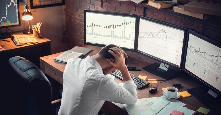 stock trader upset