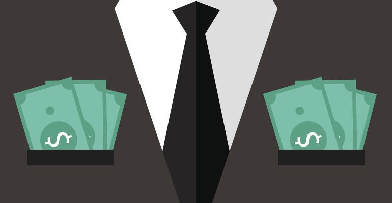 suit pockets full of cash