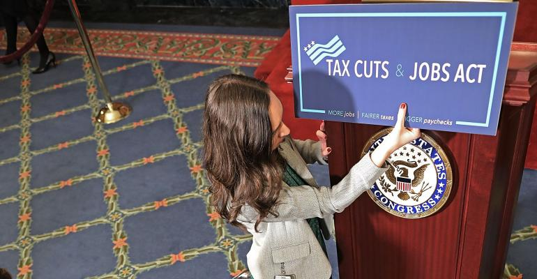 tax cuts and jobs act sign