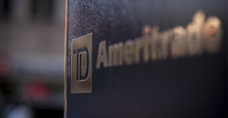 A TD Ameritrade sign.
