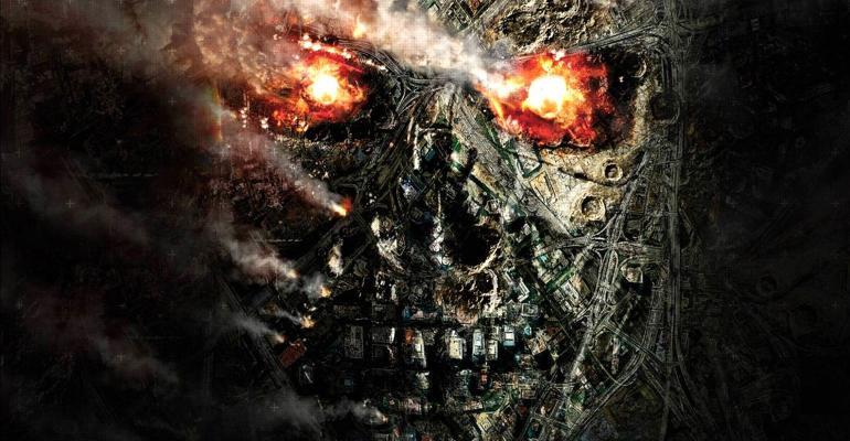 Terminator robot face