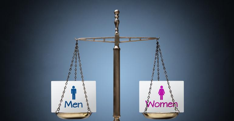 Men and Women equal scale