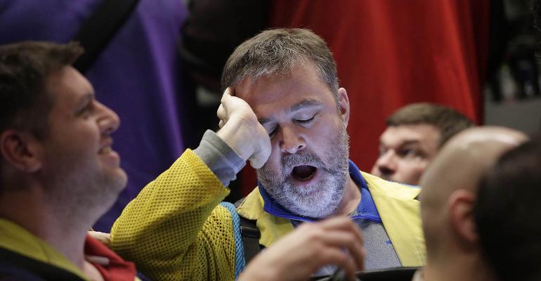 trader yawning