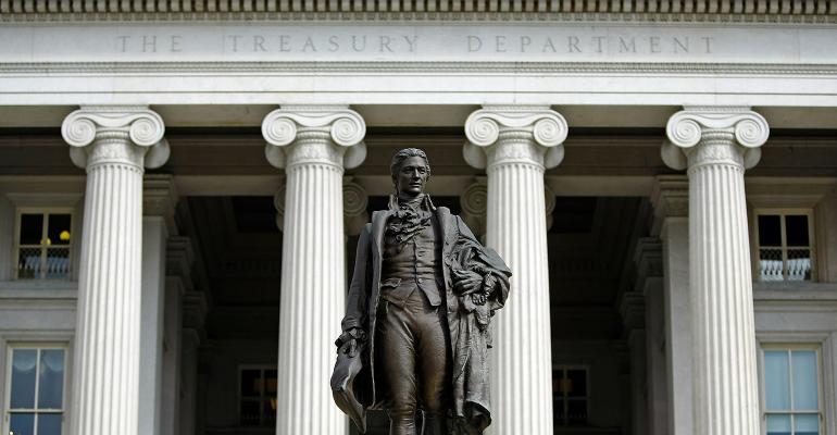 Treasury Department Hamilton statue