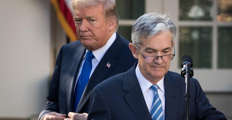 Fed Chair Jerome Powell President Donald Trump