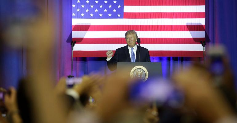 Trump speech fist