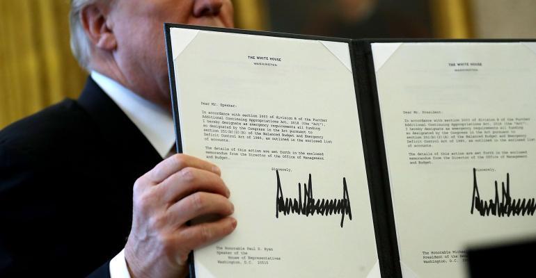 Donald Trump tax reform bill signature