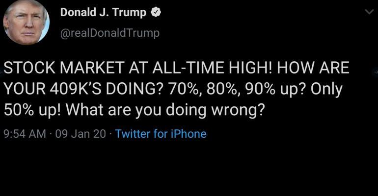Donald Trump 409K tweet