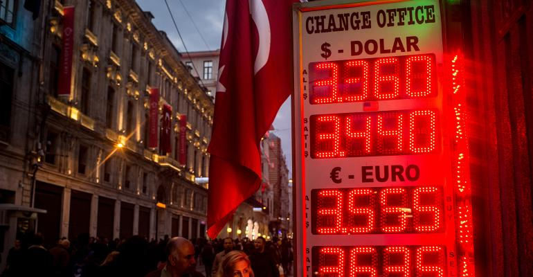 Turkey Lira exchange rate dollar euro