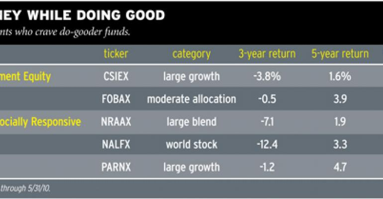 Top Crusading SRI Funds To Invest In