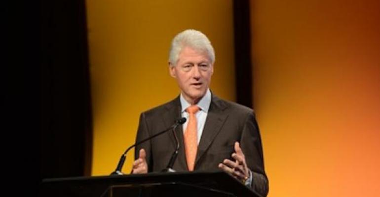 Clinton at Pershing