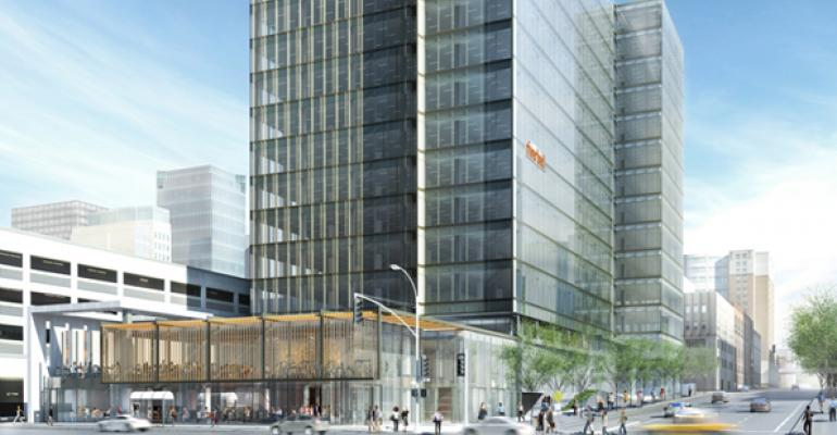 Boston Properties acquired abutting office buildings at 680 Folsom and 50 Hawthorne Streets and the neighboring site at 690 Folsom Street in San Francisco in September 2012