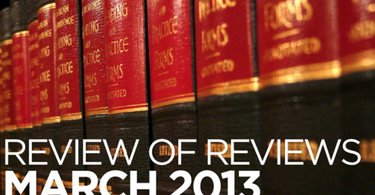Review of Reviews: The Therapeutic Function of Testamentary Formality